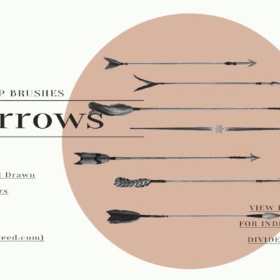 Arrows & Stars Photoshop Brushes