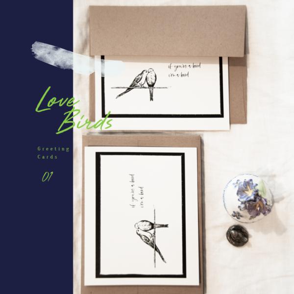 love bird greeting cards