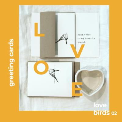 Love birds greeting cards